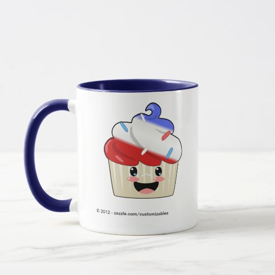 Fourth of July Cupcake Mug