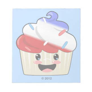 Fourth of July Cupcake Notepad