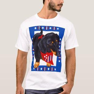 a5b88455a1c6 4th Of July Dachshund T-Shirts - T-Shirt Design & Printing | Zazzle