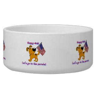 Fourth of July! Dog Food Bowl