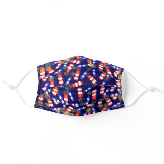 Fourth of July Firecrackers Adult Cloth Face Mask