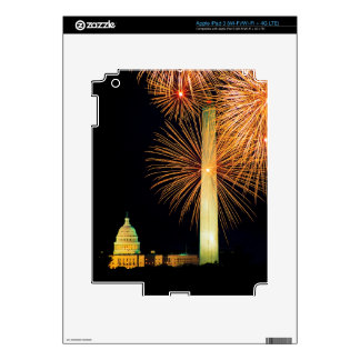 Fourth of July, Firework Display, Skyline Decal For iPad 3