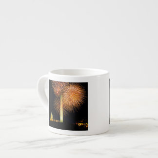 Fourth of July, Firework Display, Skyline Espresso Cup