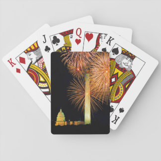 Fourth of July, Firework Display, Skyline Playing Cards