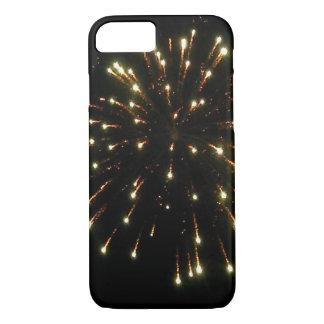 Fourth of July Gold Fireworks Burst iPhone 7 Case