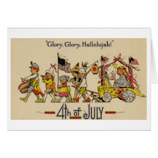 Fourth of July Greeting Card (ca. 1920)