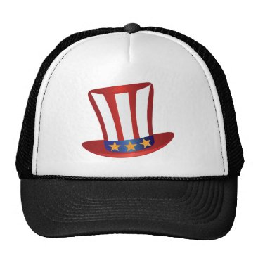USA Themed Fourth of July Hat Gold Stars Illustration