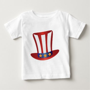 USA Themed Fourth of July Hat Gold Stars Illustration Baby T-Shirt