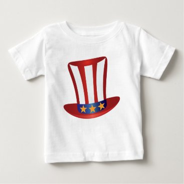 Fourth of July Hat Gold Stars Illustration Baby T-Shirt