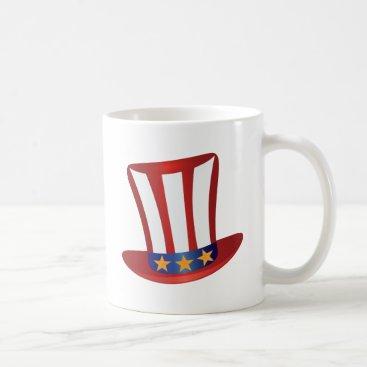 USA Themed Fourth of July Hat Gold Stars Illustration Coffee Mug