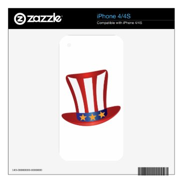 USA Themed Fourth of July Hat Gold Stars Illustration Decal For The iPhone 4S