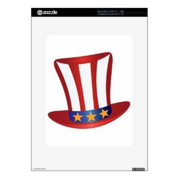 USA Themed Fourth of July Hat Gold Stars Illustration Decals For iPad