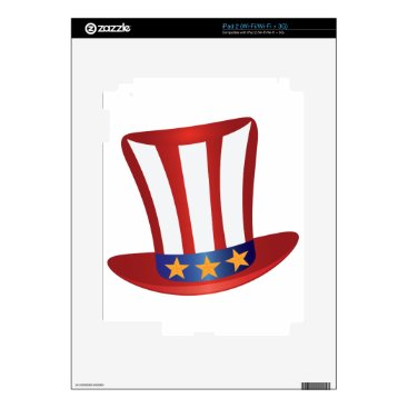 USA Themed Fourth of July Hat Gold Stars Illustration iPad 2 Skins