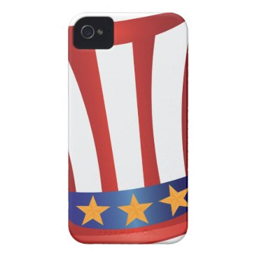 USA Themed Fourth of July Hat Gold Stars Illustration iPhone 4 Case