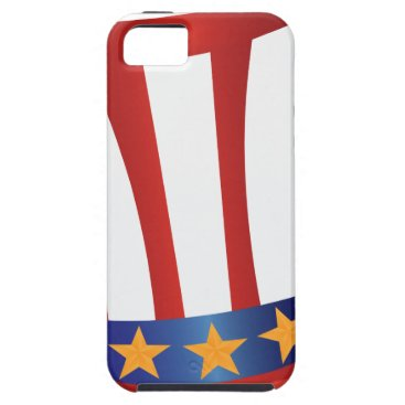 USA Themed Fourth of July Hat Gold Stars Illustration iPhone SE/5/5s Case