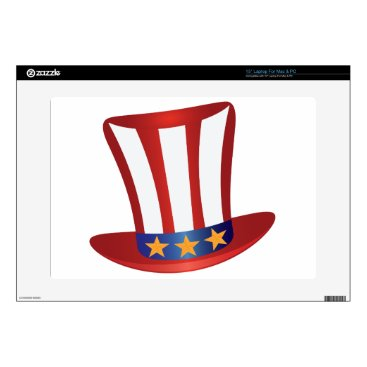 USA Themed Fourth of July Hat Gold Stars Illustration Laptop Decals