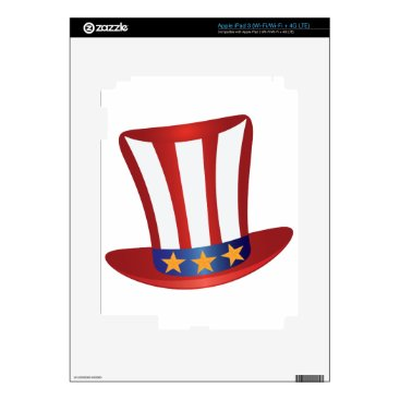 USA Themed Fourth of July Hat Gold Stars Illustration Skin For iPad 3