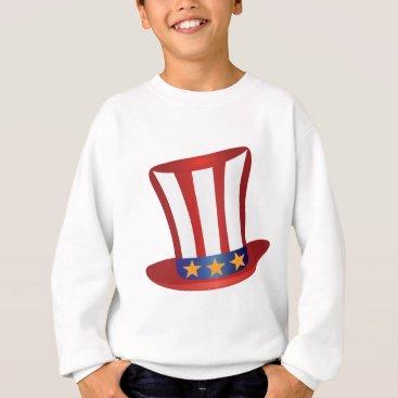 USA Themed Fourth of July Hat Gold Stars Illustration Sweatshirt