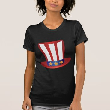 USA Themed Fourth of July Hat Gold Stars Illustration T-Shirt