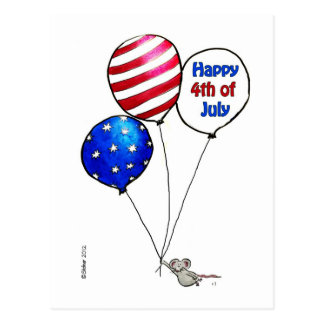 Fourth of July -  Have a day off. Postcard
