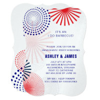 Fourth of July I Do Barbecue Engagement Invitation