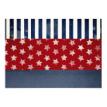 """FOURTH OF JULY INDEPENDENCE DAY INVITATION 5"""" X 7"""" INVITATION CARD"""