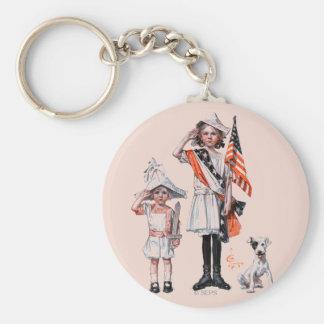 Fourth of July Keychain
