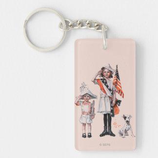 Fourth of July Rectangular Acrylic Keychains