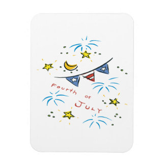 Fourth Of July Magnet