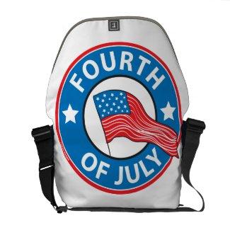 Fourth of July Messenger Bag