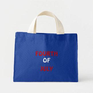 FOURTH , OF, JULY MINI TOTE BAG