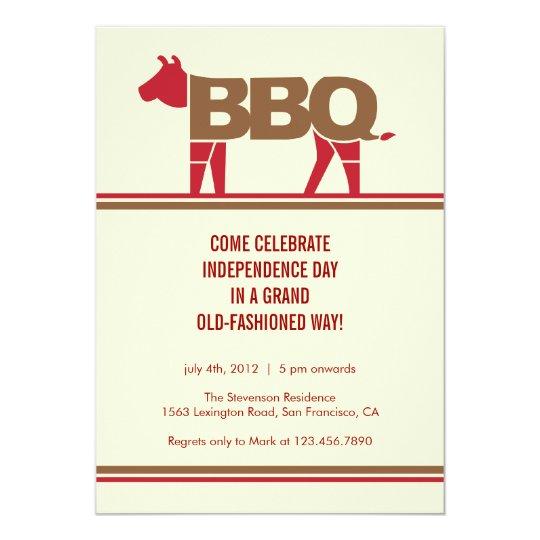 Fourth of July Modern BBQ Invitation