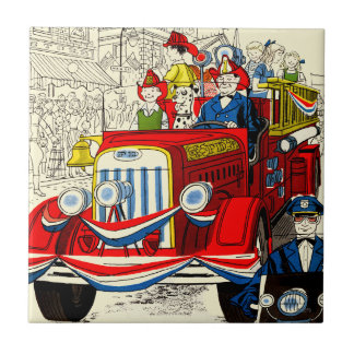 Fourth of July Parade Ceramic Tile