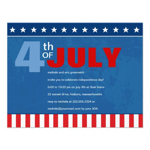 Fourth of July Party Announcements