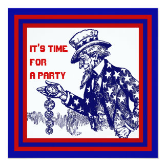 Fourth of July PARTY INVITATION ~ EZ2 CUSTOMIZE
