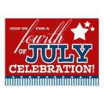 """Fourth of July Party Invitations 5"""" X 7"""" Invitation Card"""