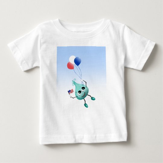 Fourth of July Peep with Balloons Baby T-Shirt