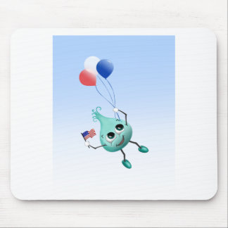 Fourth of July Peep with Balloons Mouse Pad