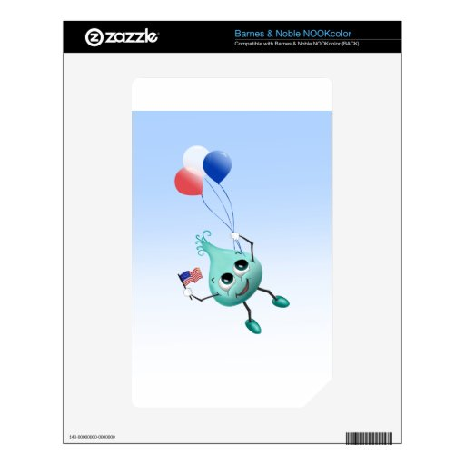Fourth of July Peep with Balloons Decal For The NOOK Color