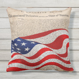 Fourth of July Pillow - Independence Writing