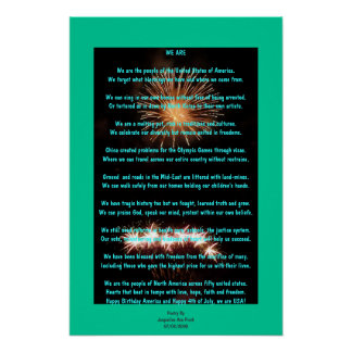 Fourth Of July Poetry Poster Print
