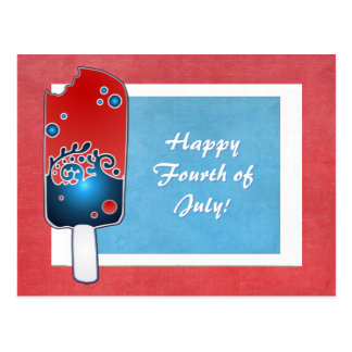 Fourth of July Popsicle Postcarx Post Card