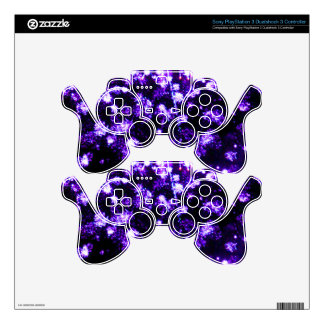Fourth of July Purple Fireworks Burst PS3 Controller Decals