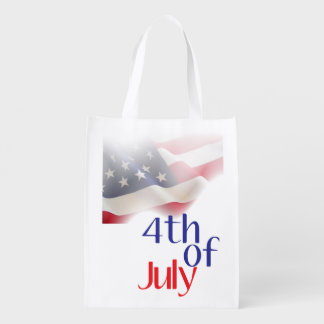 Fourth of July Reusable Bag Grocery Bags