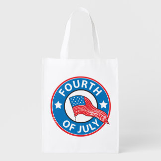 Fourth of July Reusable Grocery Bags