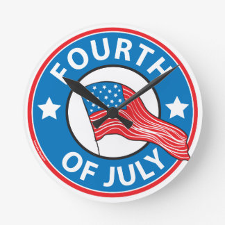 Fourth of July Round Clock