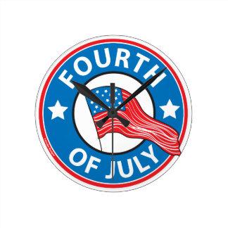 Fourth of July Round Clock