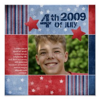 """Fourth of July"" Scrapbook Page Print"