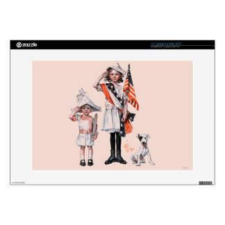 """Fourth of July 15"""" Laptop Decals"""