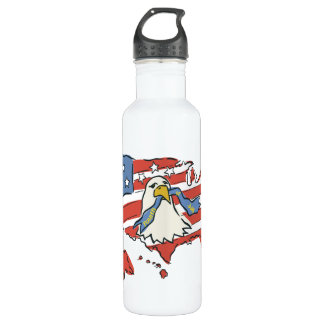 Fourth Of July Stainless Steel Water Bottle